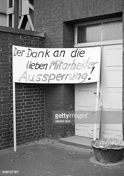 Economy, steel industry in the Ruhr area, strike on Thyssen in 1978, strike call, lock-out, D-Duisburg, Rhine, Ruhr area, North Rhine-Westphalia -