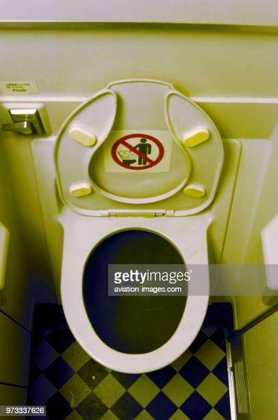 economyclass cabin lavatory with seat up LGWANU