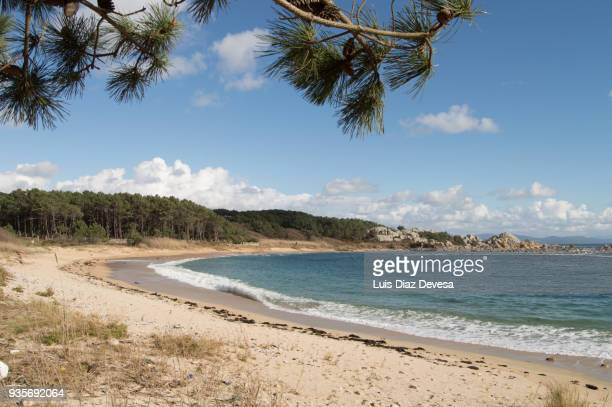 ecotourism for the footpath pedras negras to con negro ( o grove - spain) - pontevedra province stock pictures, royalty-free photos & images
