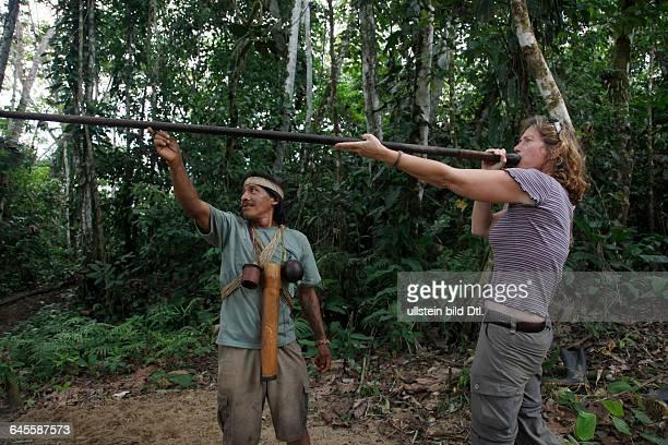Ecotourism with native Huaorani nation at Yasuni National Park Amazon Ecuador