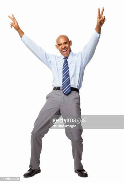 Ecstatic Businessman - Isolated