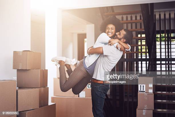 ecstatic that this is all theirs - home ownership stock pictures, royalty-free photos & images