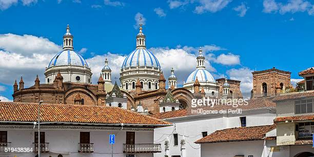 Ecuador. Cuenca city. Domes of the New Cathedral