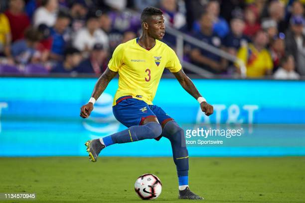 Ecuador defender Robert Arboleda dribbles the ball in game action during an International friendly match between the United States and the Ecuador...