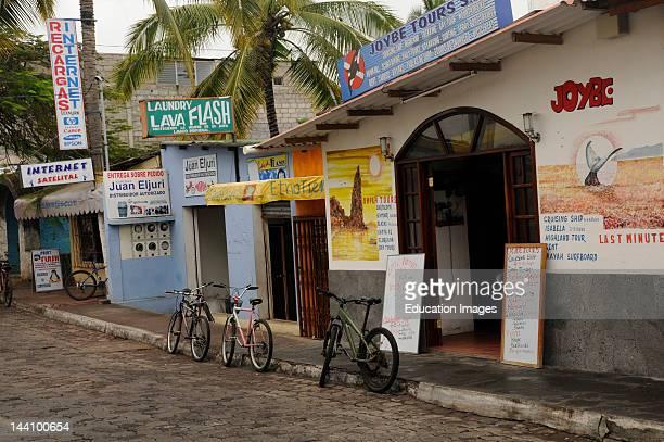 Ecuador Galapagos Islands Puerto Ayora Bicycles Shops Signs