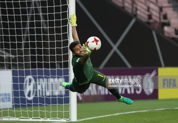 Ecuador goalkeeper Jose Cevallos makes a save during the FIFA U20 World Cup Korea Republic 2017 group F match between Senegal and Ecuador at Jeonju...