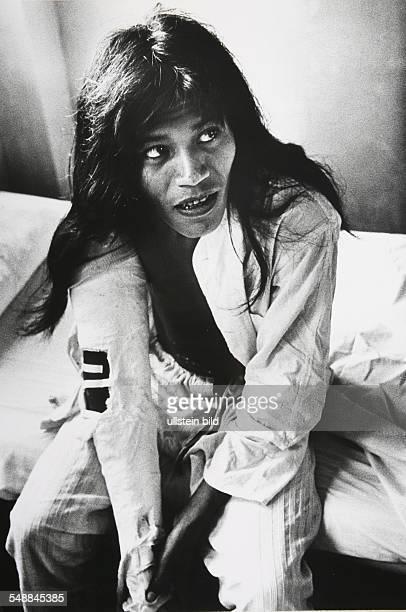 Ecuador Jivaro indian in a hospital