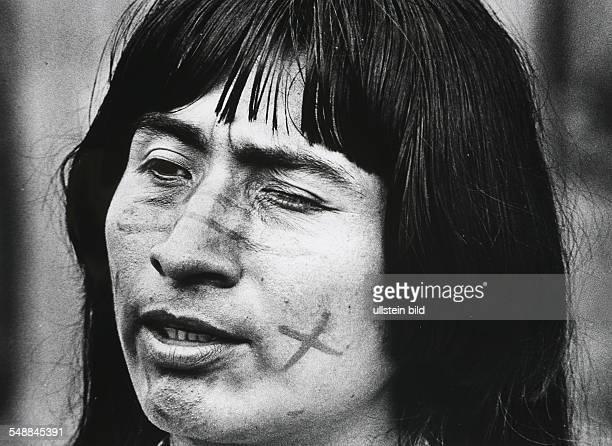 Ecuador Jivaro Indian in the Amazonas region