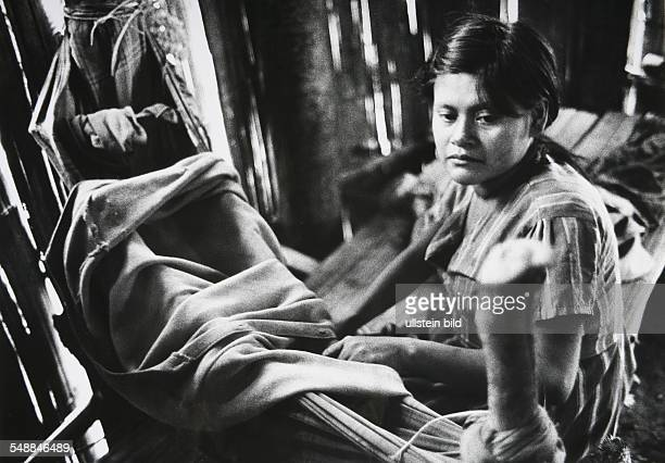 Ecuador Jivaro woman with in the Amazonas region
