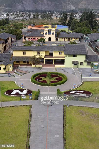 Ecuador Pichincha Province Quito UNESCO World Heritage List 1978 Mitad del Mundo Ground line that marks the Equator