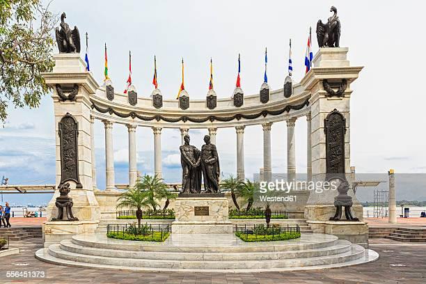 ecuador, province of guayas, guayaquil, memorial at malecon 2000 - guayaquil fotografías e imágenes de stock
