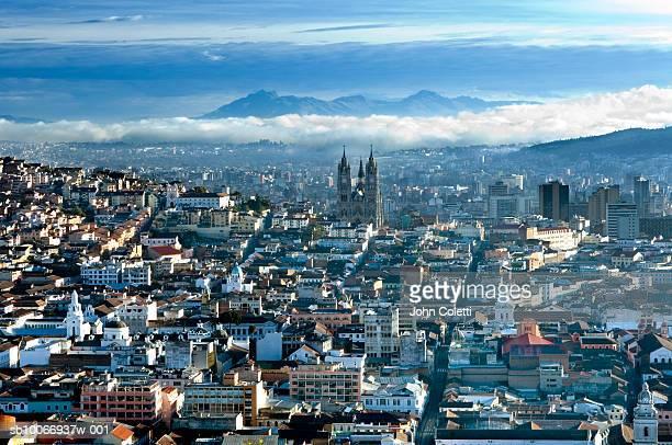 Ecuador, Quito, Cityscape, elevated view