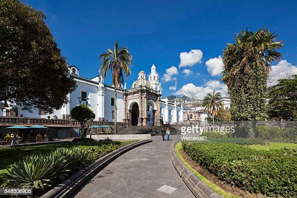 Ecuador, Quito, Independence Square and Metropolitan Cathedral