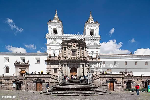 Ecuador, Quito, Plaza de San Francisco and Church and Monastery of St. Francis