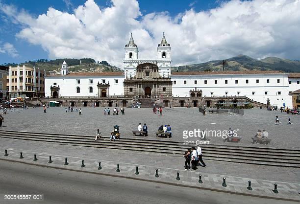 Ecuador, Quito, Plaza San Francisco, Monastery of San Francisco