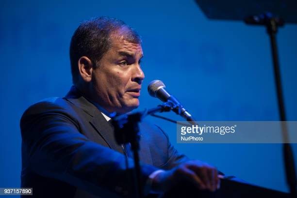 Ecuadorean former president Rafael Correa recieved the Honoris Causa Doctorate Award on March 23 2018 in Santa Fe Argentina