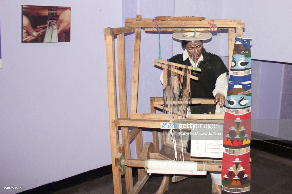 Ecuadorian display of culture and history in  Middle of the... : News Photo