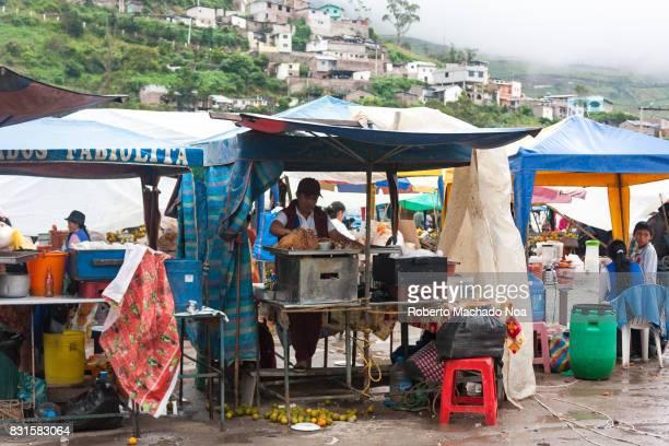 Ecuadorian market in an Andean small town.
