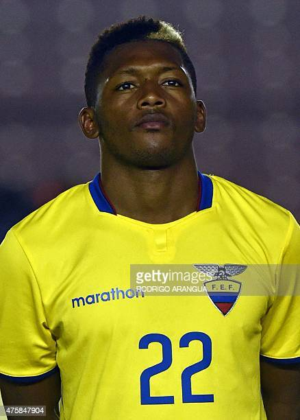 Ecuadorian national football team player Jonathan Gonzalez before a friendly match against Panama at the Rommel Fernandez stadium in Panama City on...