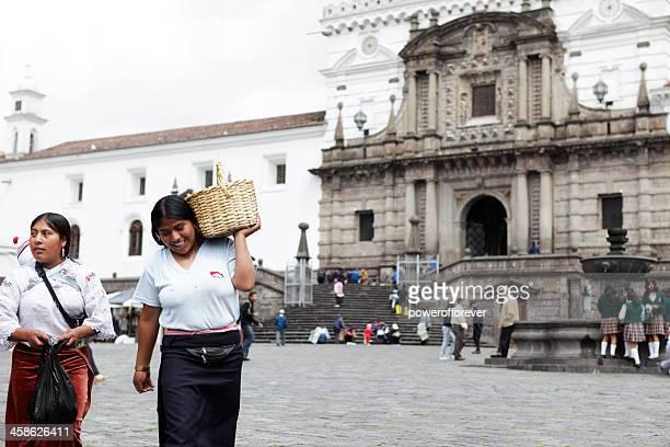 Ecuadorian People at the Church of San Francisco - Quito