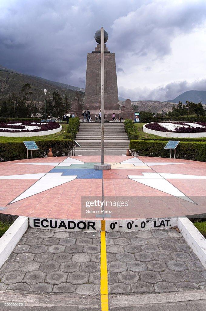 Ecuador's Equatorial Monument : Stock Photo