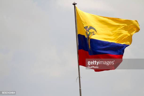 Ecuador's flag is seen in Central square in which the presidential palace is located plus two main churches that are the tourist attraction of Quito...