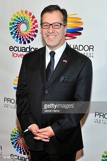 Ecuador's Los Angeles General Consul Eddie Bedon attends ProEcuador Los Angeles Business Matchmaking USAEcuador 2013 at the Hyatt Regency Century...