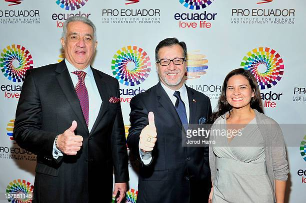 Ecuador's Los Angeles Trade Commisioner Dick Vega Ecuador's Los Angeles General Consul Eddie Bedon and Business Matchmaking coordinator Tania...
