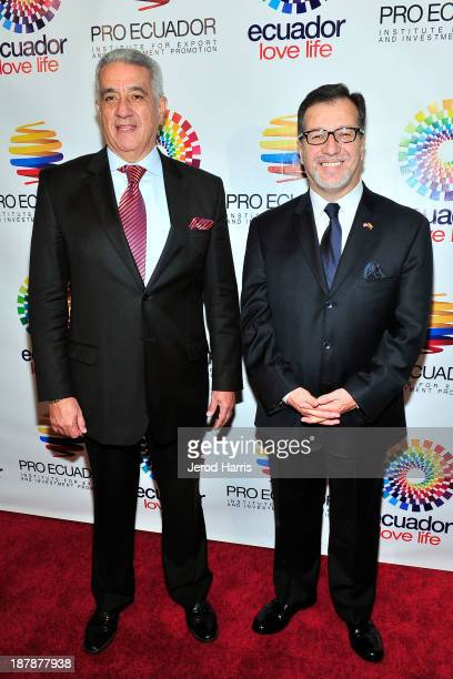 Ecuador's Los Angeles Trade Commissioner Dick Vega and Ecuador'sLos Angeles General Consul Eddie Bedon attends ProEcuador Los Angeles Business...