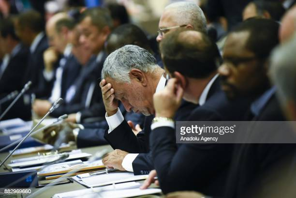 Ecuador's Minister of Hydrocarbons Carlos Perezi attends the 3rd OPEC and nonOPEC Producing Countries' Ministerial Meeting in Vienna Austria on...