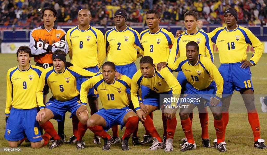 7ddde8e23 Ecuador s National Soccer team poses for a photograph before their ...