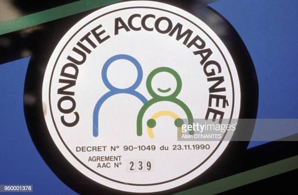 Ecusson pour la conduite accompagnée en 1993 en France