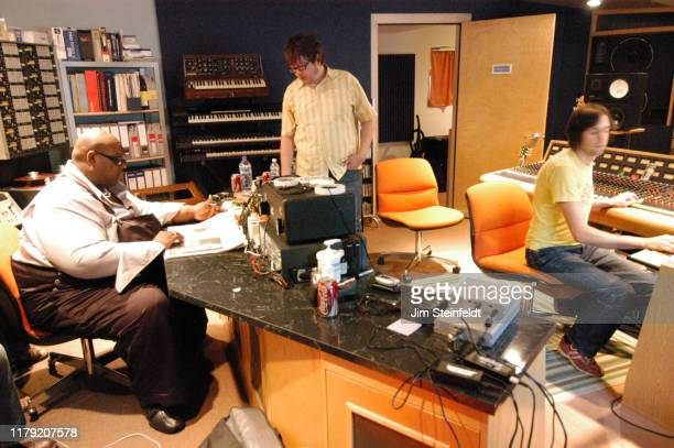 Ed Ackerson with the band Catchpenny during a recording session at Flowers Studio in Minneapolis Minnesota on July 17 2006 Photo by Jim...