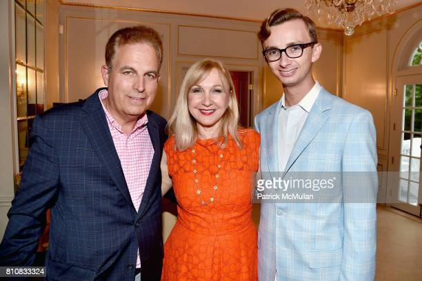 Ed Adler Katlean de Monchy and Cole Rumbough attend Katrina and Don Peebles Host NY Mission Society Summer Cocktails at Private Residence on July 7...
