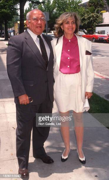 Ed Asner and Cindy Gilmore attend 10th Anniversary Party for Medical Aid for El Salvador at Maple Drive Restaurant in Beverly Hills, California on...