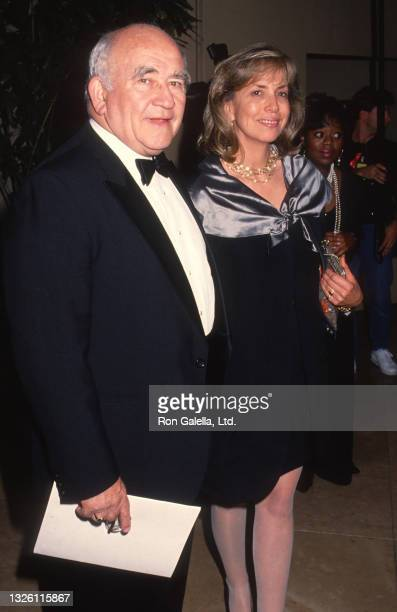 Ed Asner and Cindy Gilmore attend 44th Annual Writers Guild of America Awards at the Beverly Hilton Hotel in Beverly Hills, California on March 22,...