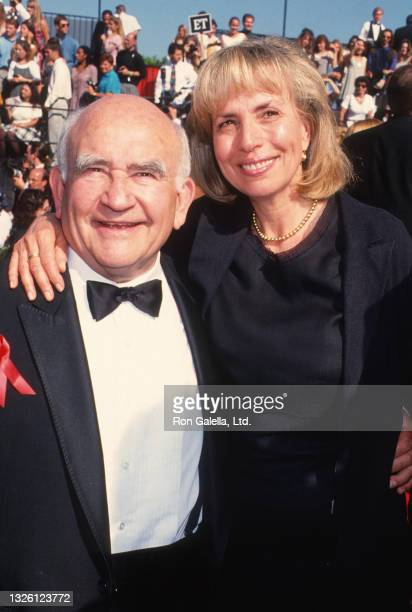 Ed Asner and Cindy Gilmore attend 46th Annual Primetime Emmy Awards at the Pasadena Civic Auditorium in Pasadena, California on September 11, 1994.