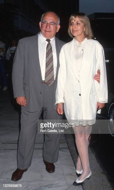 Ed Asner and Cindy Gilmore attend ABC Affiliates Party at the Century Plaza Hotel in Century City, California on June 9, 1994.