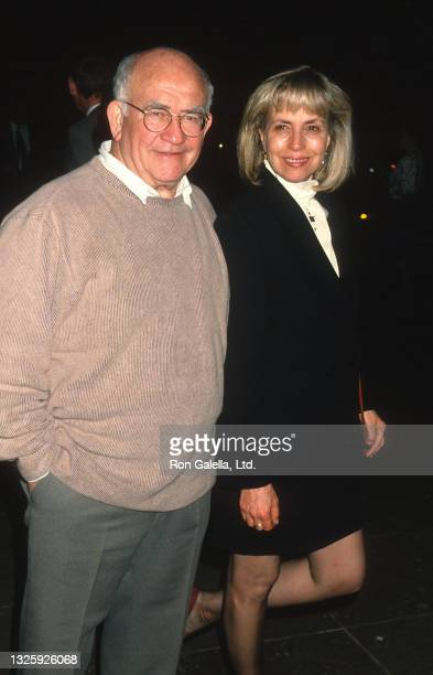 Ed Asner and Cindy Gilmore attend ABC Winter Press Tour at the Ritz Carlton Hotel in Pasadena, California on January 12, 1995.
