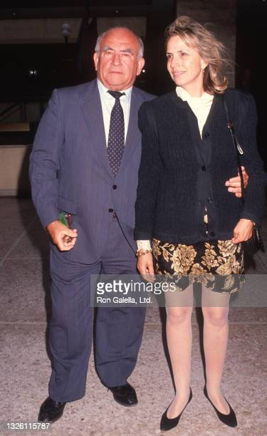 """Ed Asner and Cindy Gilmore attend """"City Of Angels"""" Performance at the Shubert Theater in Century City, California on June 5, 1991."""