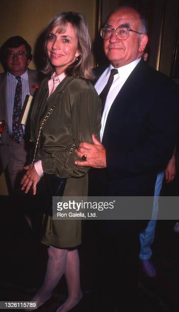 """Ed Asner and Cindy Gilmore attend """"Daytime Cares - A Show Of Support"""" Benefit for AmFAR at Club Tatou in New York City on June 26, 1991."""