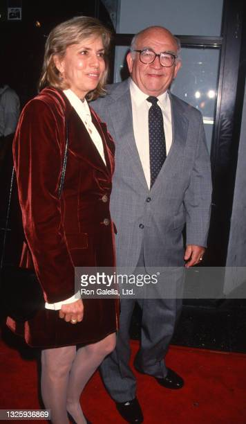 """Ed Asner and Cindy Gilmore attend """"Gypsy"""" World Premiere at the El Capitan Theater in Hollywood, California on November 1, 1993."""
