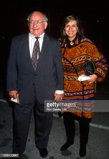 Ed Asner and Cindy Gilmore attend Oxfam America Hunger Hollywood Banquet at the Barker Hanger at Santa Monica Airport in Santa Monica, California on...