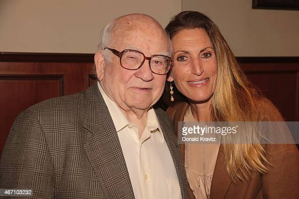 Ed Asner and daughter Liza Asner appear at the 2015 Garden State Film Festival at Resorts Casino Hotel on March 20 2015 in Atlantic City New Jersey