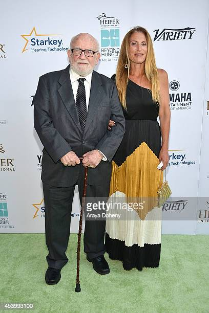 Ed Asner and daughter Liza Asner attend Heifer International's 3rd Annual 'Beyond Hunger A Place At The Table' Gala at Montage Beverly Hills on...