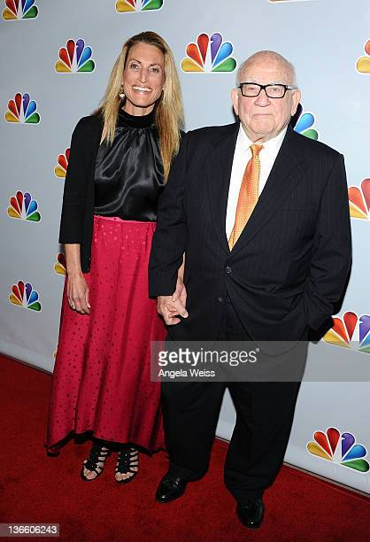 Ed Asner and his daughter Liza attend NBC's taping of 'Betty White's 90th Birthday A Tribute to America's Golden Girl' at Millennium Biltmore Hotel...