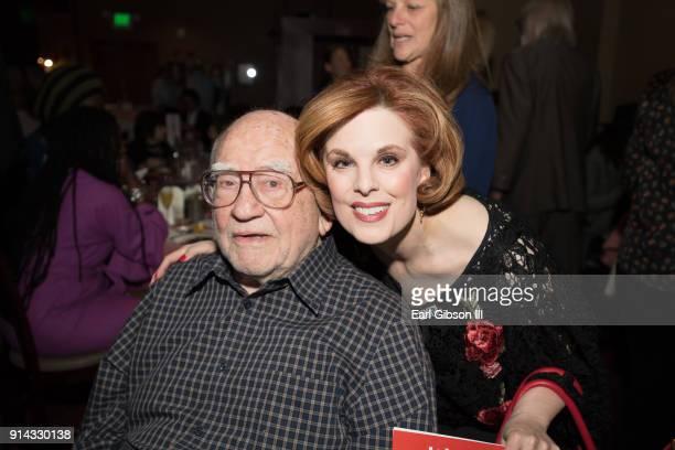 Ed Asner and Kat Kramer attend KPFK's 'Heroes of Hope' Fundraiser on February 4 2018 in Los Angeles California
