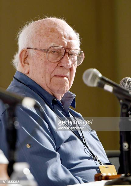 Ed Asner at the 'Outdated Democracy Presents The Electoral College – An Obstacle To Democracy?' panel during Politicon at Pasadena Convention Center...