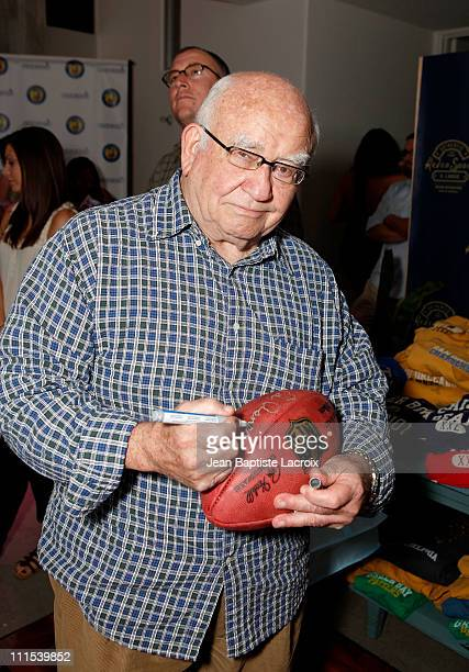 Ed Asner attends the Retro Sport booth Kari Feinstein Primetime Emmy Awards style lounge at Zune LA on September 18 2009 in Los Angeles California