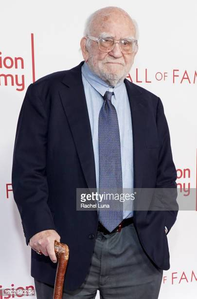 Ed Asner attends the Television Academy's 25th Hall Of Fame Induction Ceremony at Saban Media Center on January 28 2020 in North Hollywood California